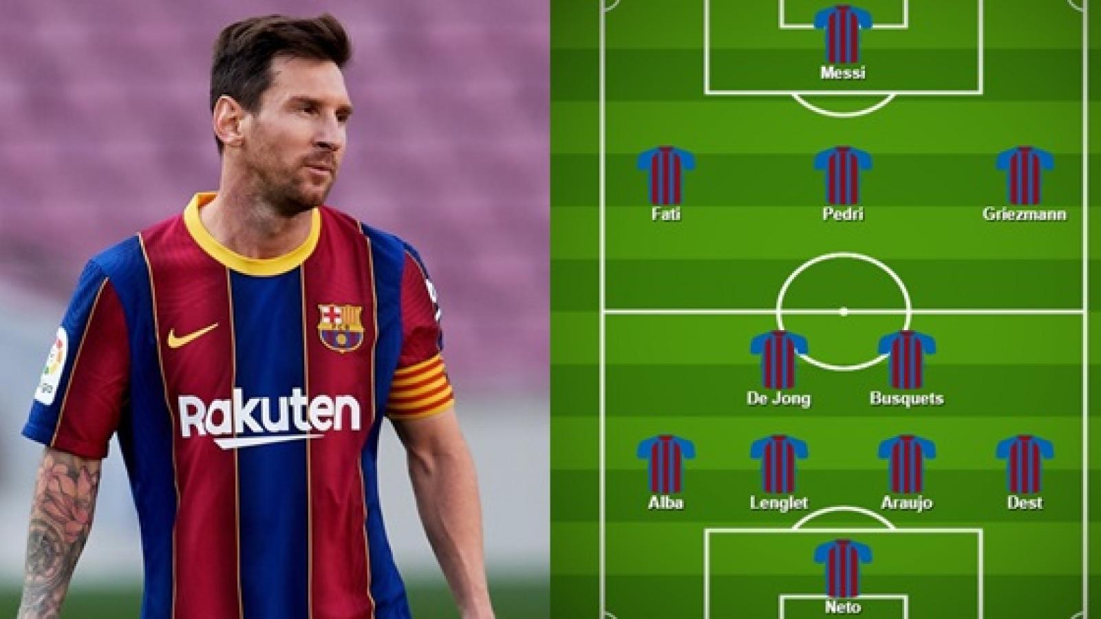 Đội hình dự kiến của Barca trước Juventus: Messi dìu dắt 2 chân sút 17 tuổi