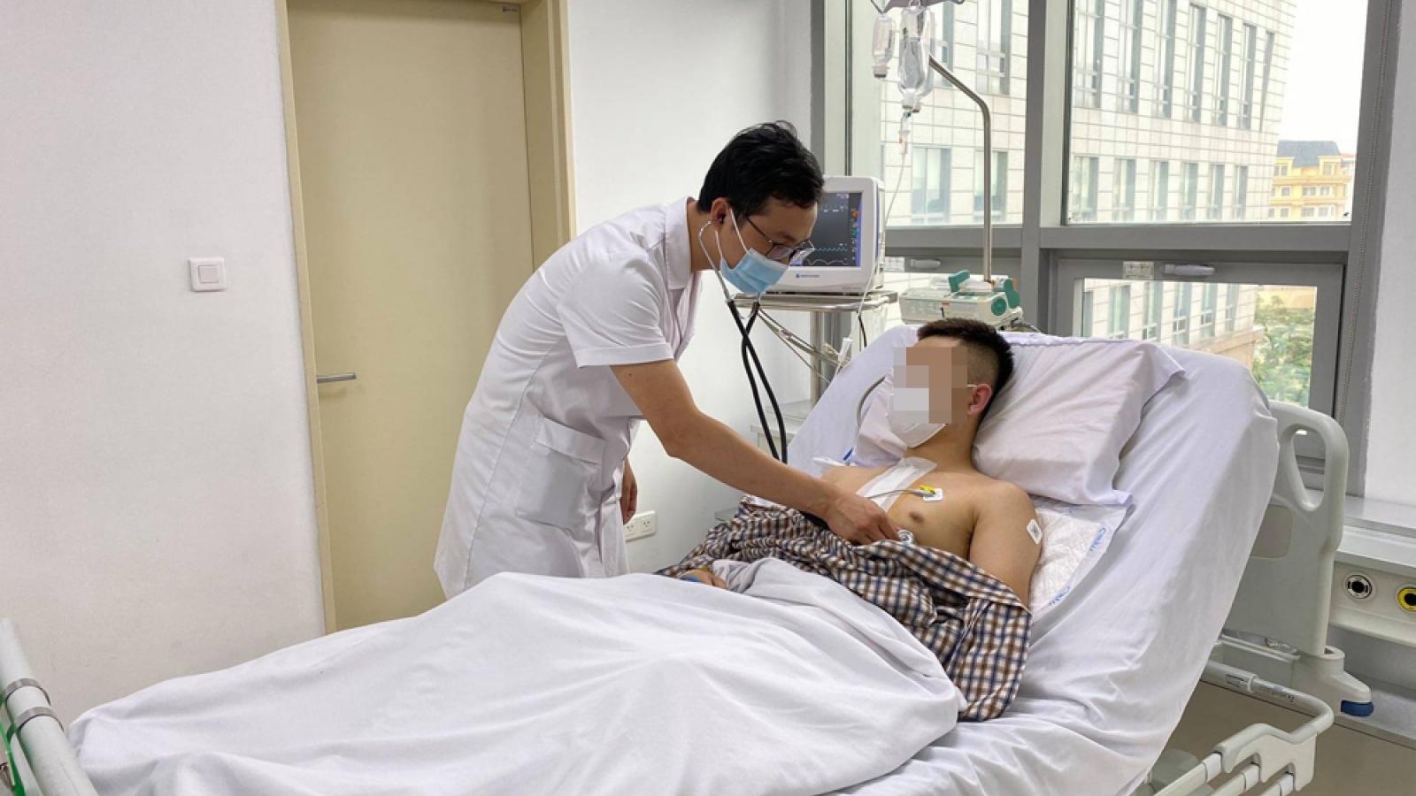Nam thanh niên bị thủng tim vì tai nạn giao thông