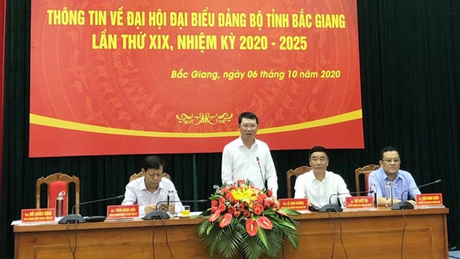 Đại hội Đảng bộ tỉnh Bắc Giang diễn ra từ ngày 13- 15/10