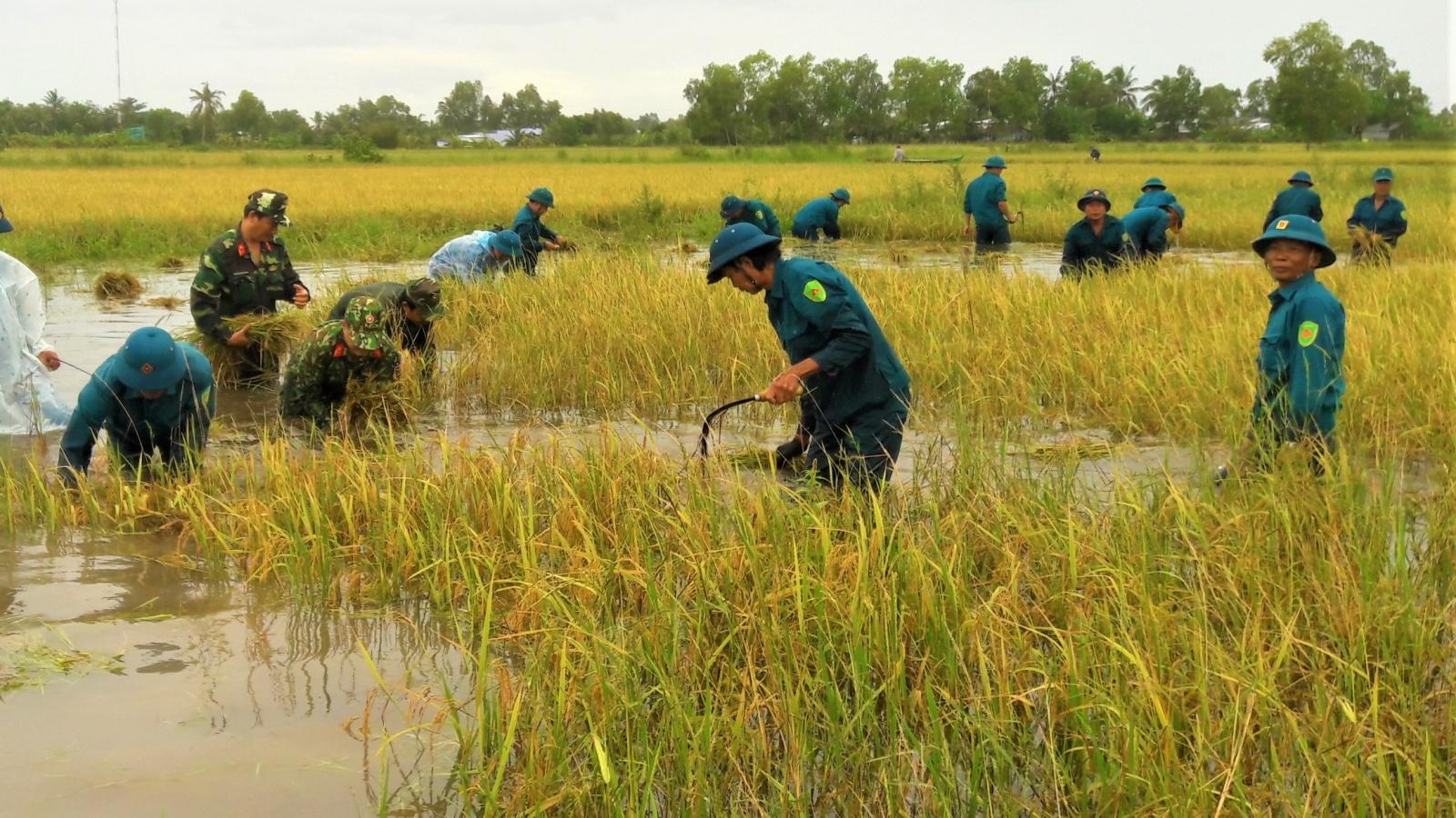 """Ngập lụt ở Cà Mau: """"Ở đâu dân gặp khó, ở đó có bộ đội"""""""