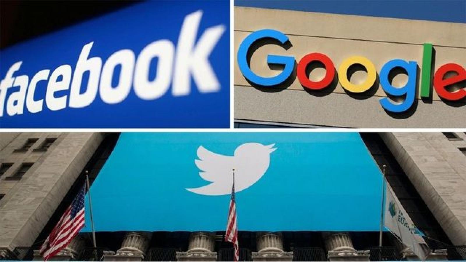 CEO của Facebook, Twitter, Google xác nhận tham gia điều trần trước Thượng viện Mỹ