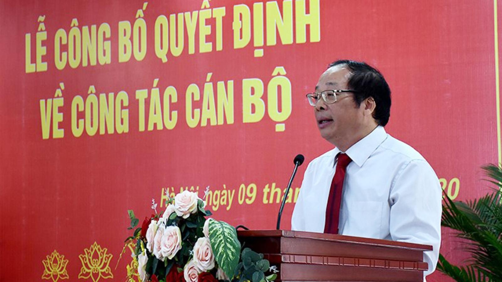 PGS.TS Lưu Văn An được trao Quyền Giám đốc Học viện Báo chí và Tuyên truyền