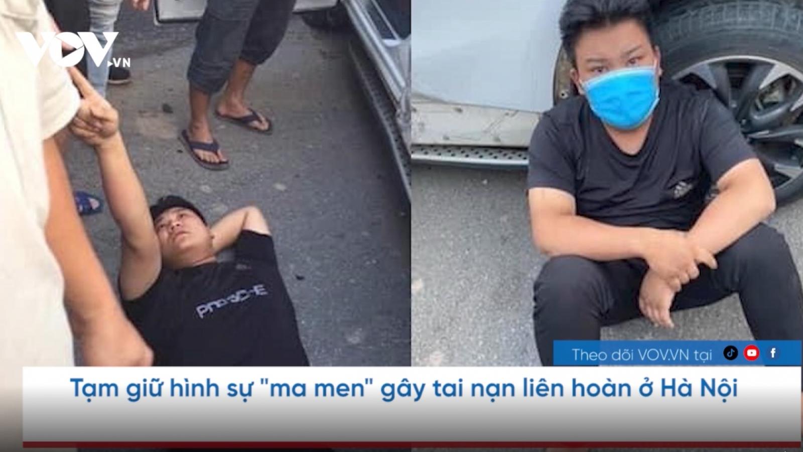"""Nóng 24h: Tạm giữ hình sự """"ma men"""" gây tai nạn liên hoàn ở Hà Nội"""