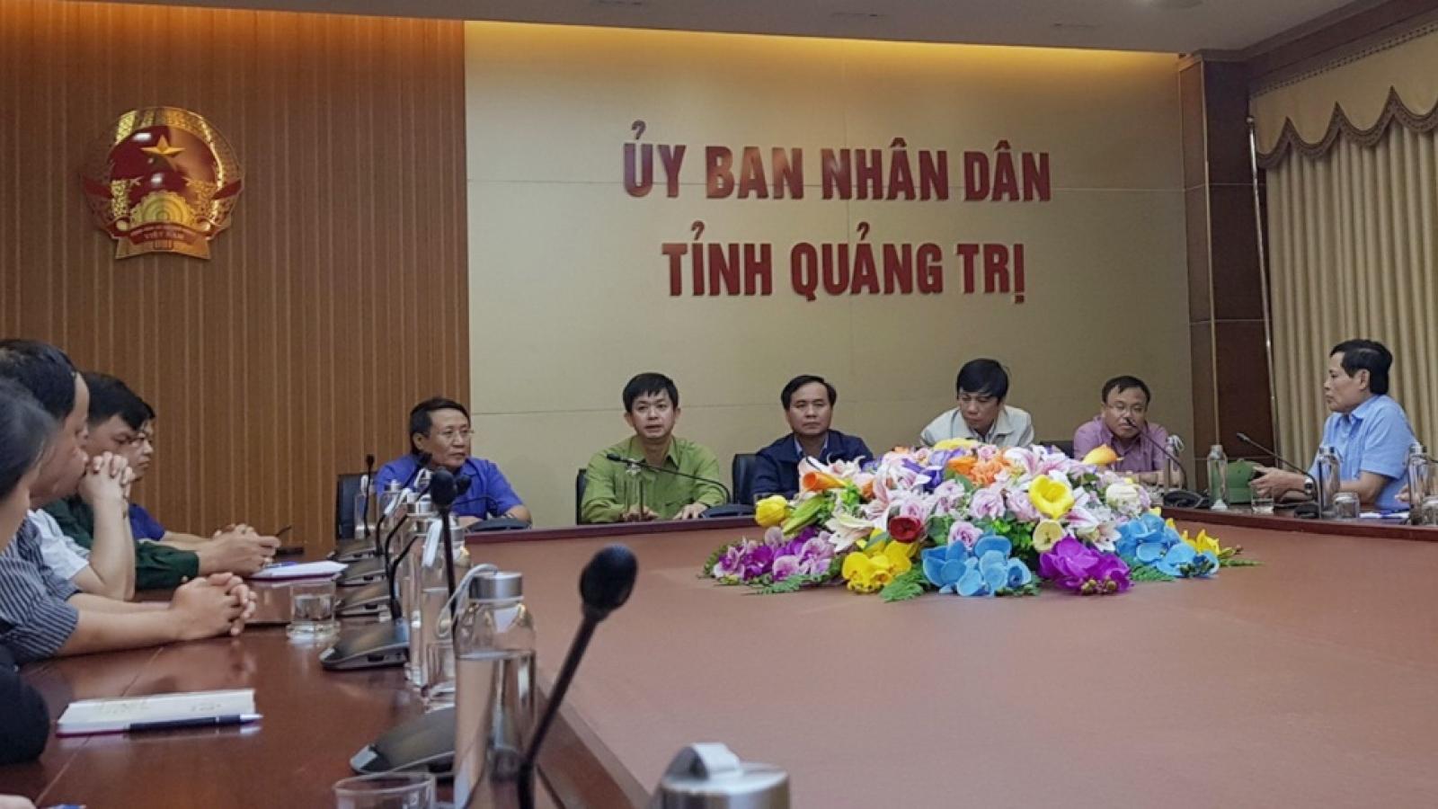 Họp khẩn ứng phó với mưa lũ, sạt lở đất nghiêm trọng tại Quảng Trị