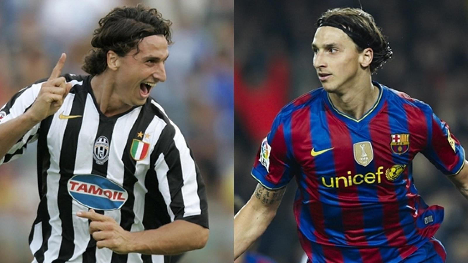 Zlatan Ibrahimovic và những ngôi sao từng khoác áo cả Juventus lẫn Barca