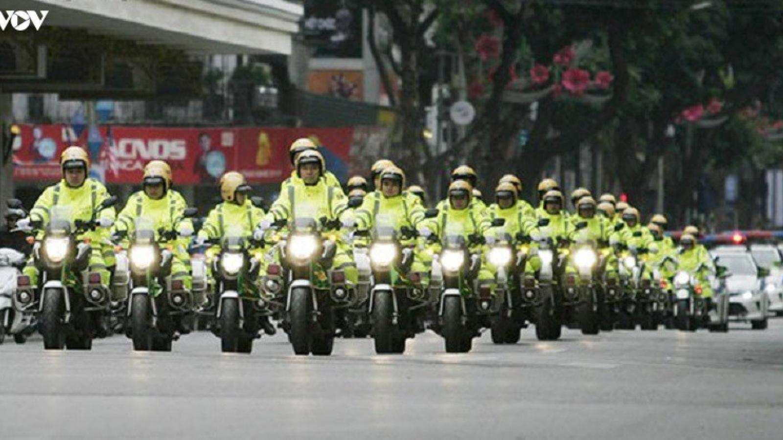 Hà Nội phân luồng giao thông phục vụ Đại hội Đại biểu lần thứ XVII Đảng bộ Thành phố