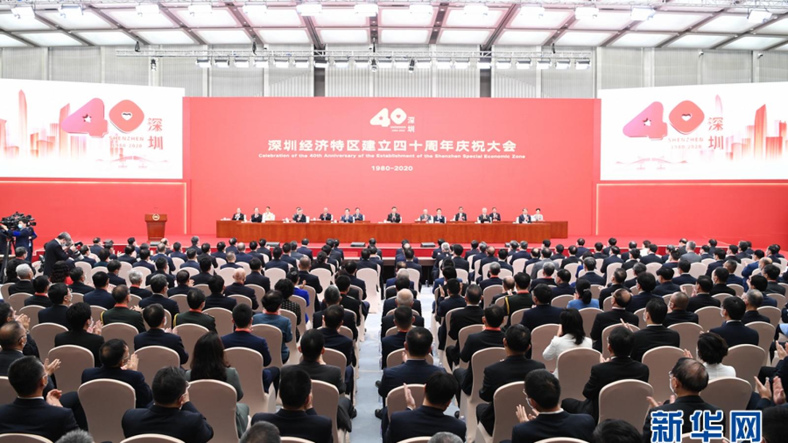 Chủ tịch Trung Quốc đánh giá cao thành công của Đặc khu kinh tế Thâm Quyến