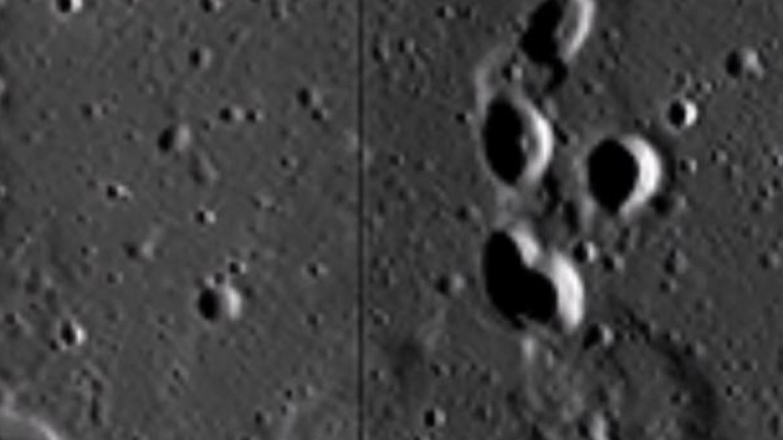 Dấu chân người ngoài hành tinh trên Mặt Trăng gần nơi tàu Apollo hạ cánh?
