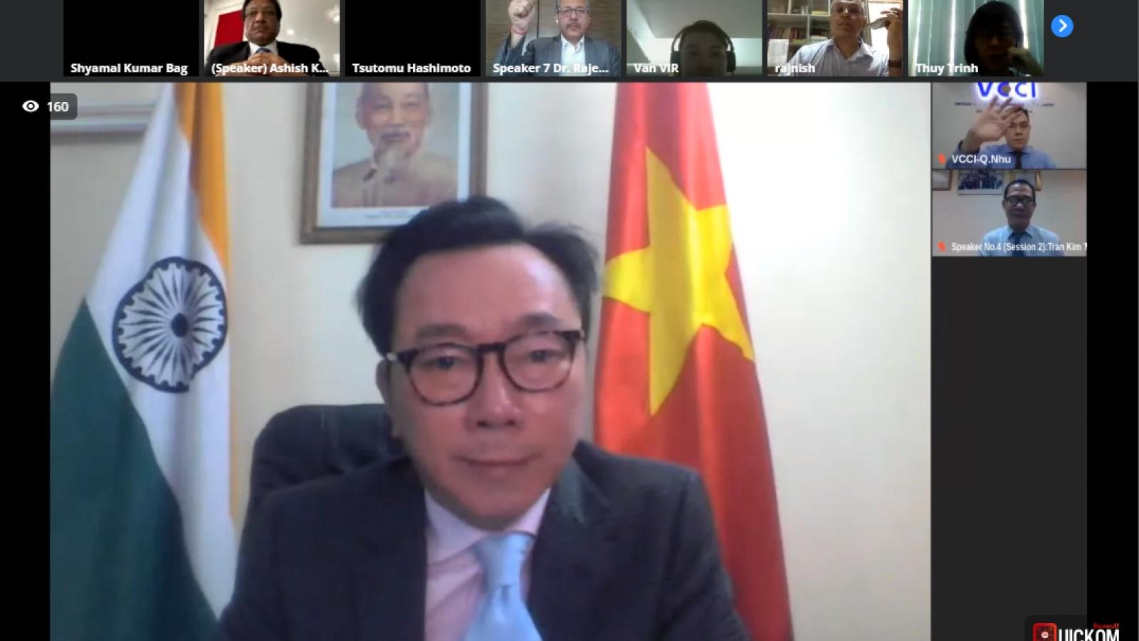 Dệt may và dược phẩm là lĩnh vực hợp tác tiềm năng giữa Ấn Độ và Việt Nam