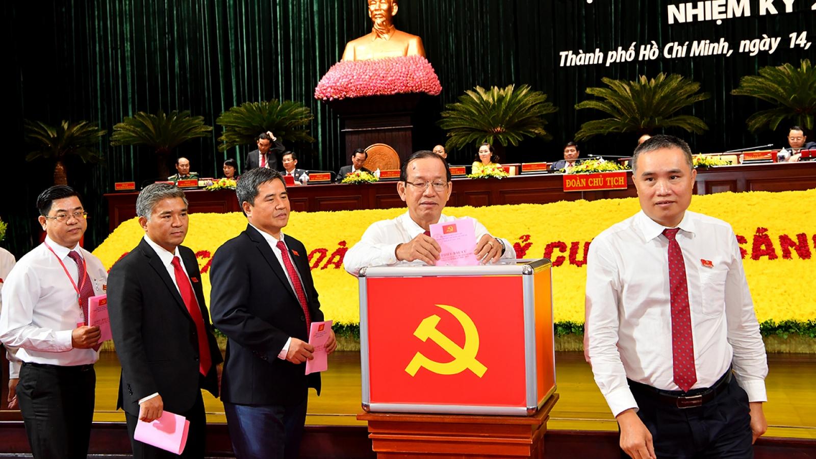 Đại hội Đảng bộ TPHCM: Bầu Ban Chấp hành gồm 61 uỷ viên
