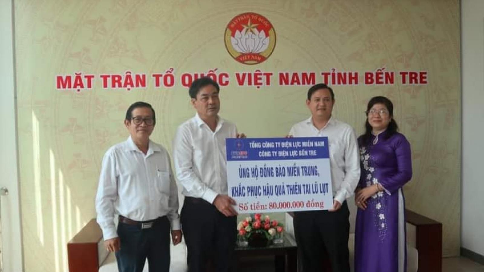Tiền Giang, Bến Tre hỗ trợ miền Trung khắc phục hậu quả thiên tai
