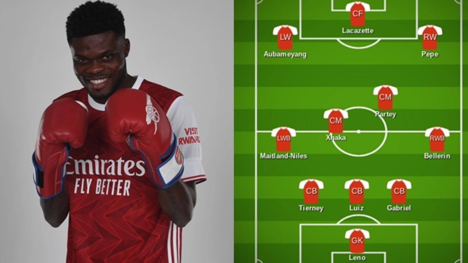 """Đội hình dự kiến của Arsenal trước Leicester: Thomas Partey """"gánh"""" tuyến giữa"""