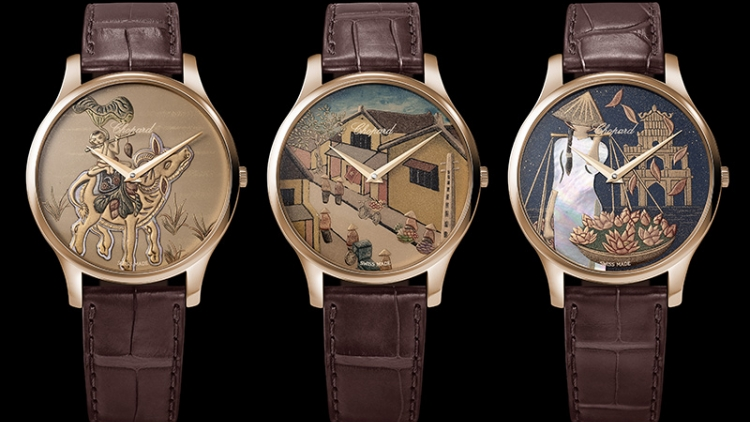 Chopard luxury watch features images of Hanoi's Old Quarter