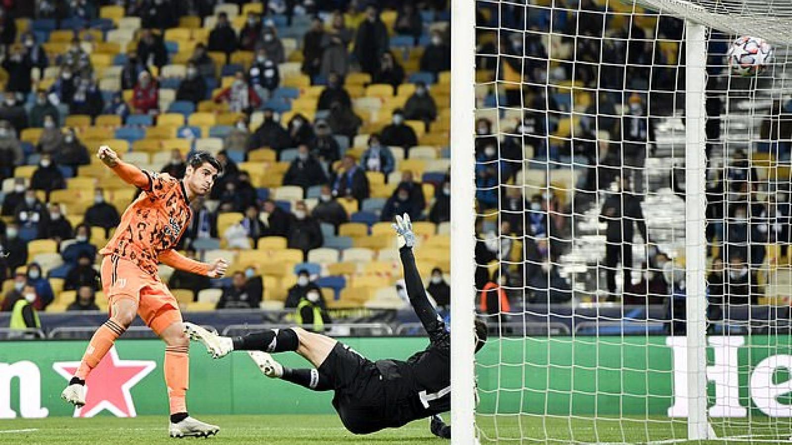 Alvaro Morata lập cú đúp, Juventus - không - CR7 nhọc nhằn vượt ải Dynamo Kyiv