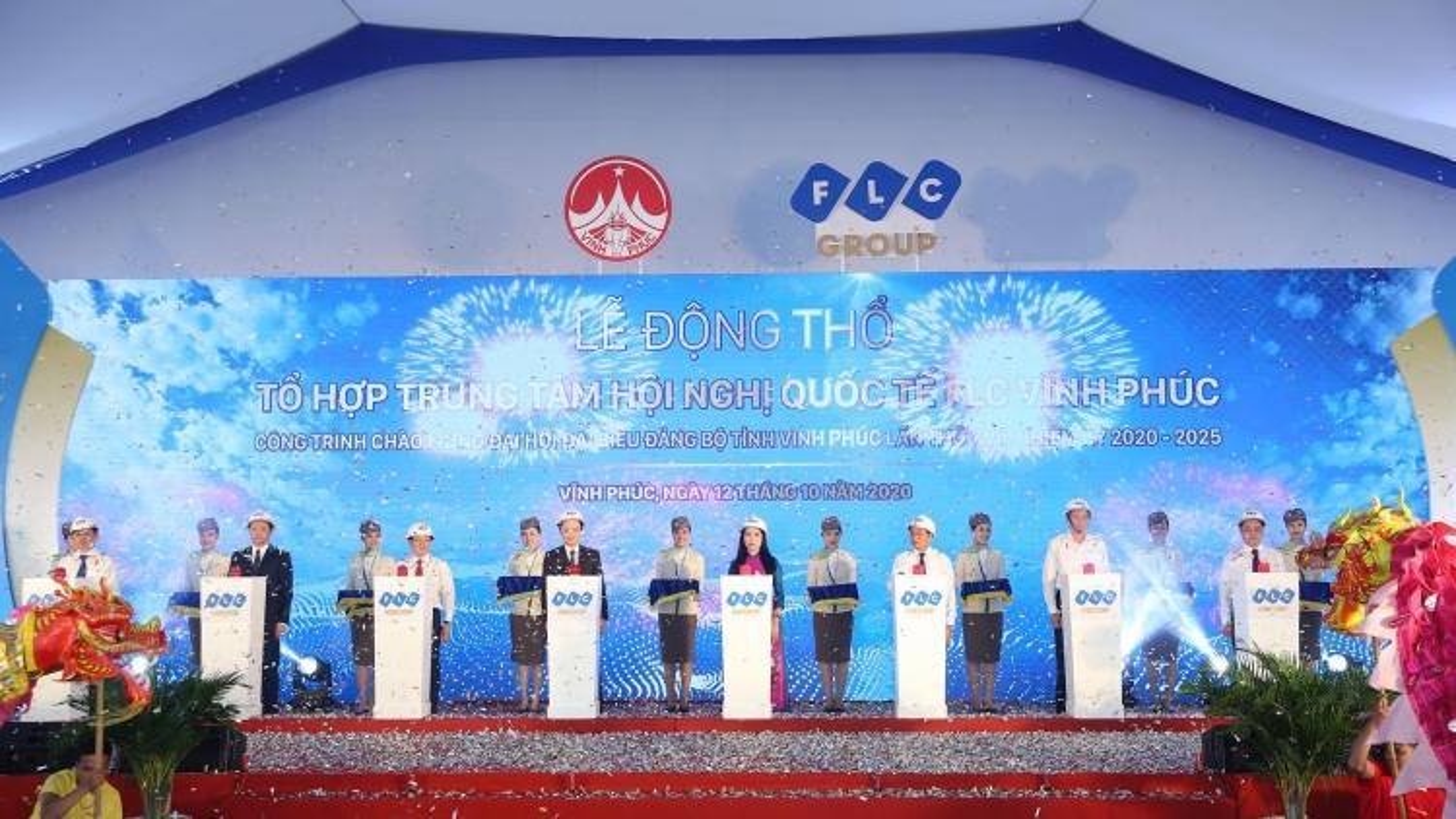 Khởi công xây dựng Tổ hợp Trung tâm Hội nghị quốc tế FLC Vĩnh Phúc