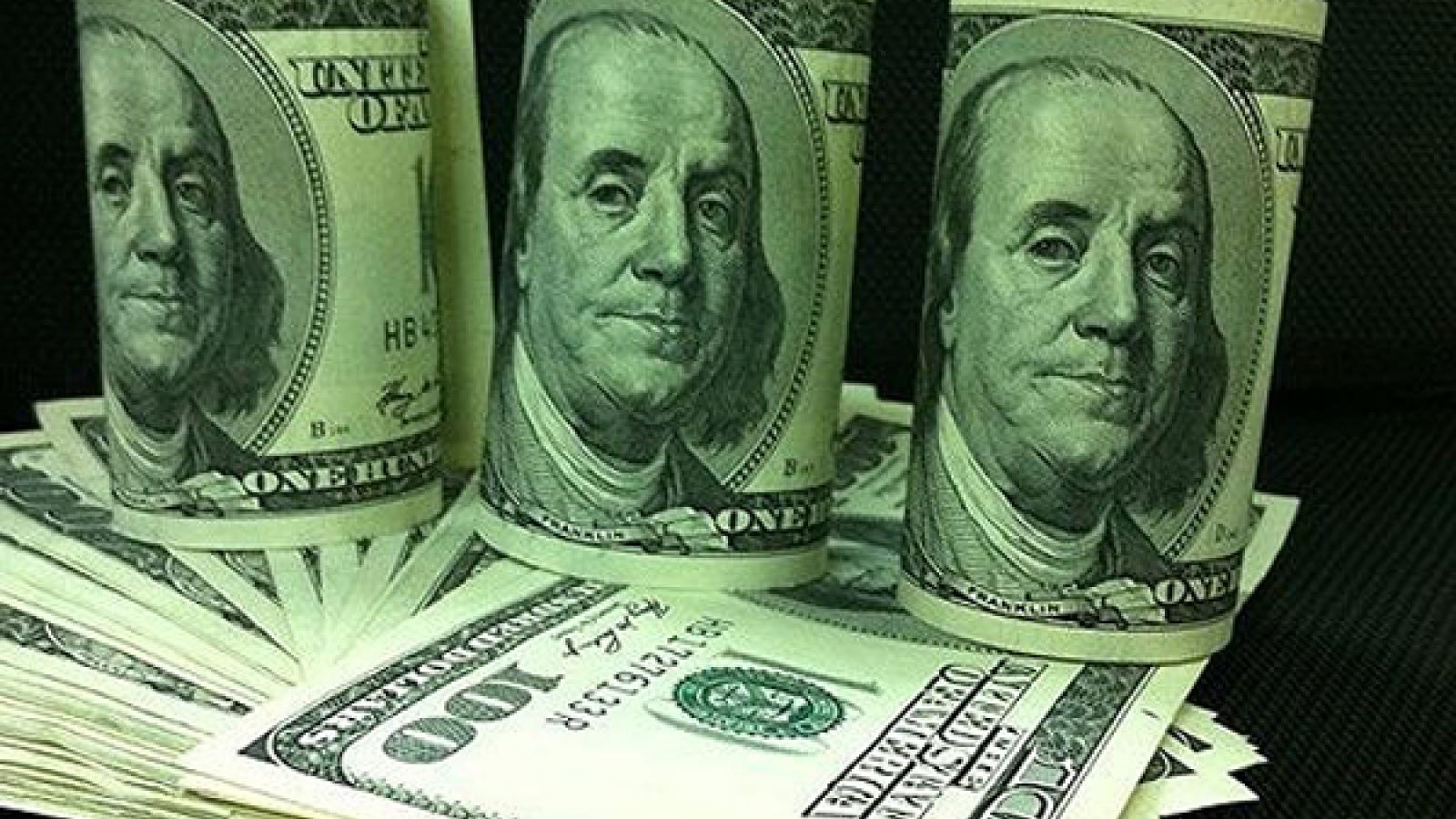 """Giá USD trong nước gần như """"giậm chân tại chỗ"""""""
