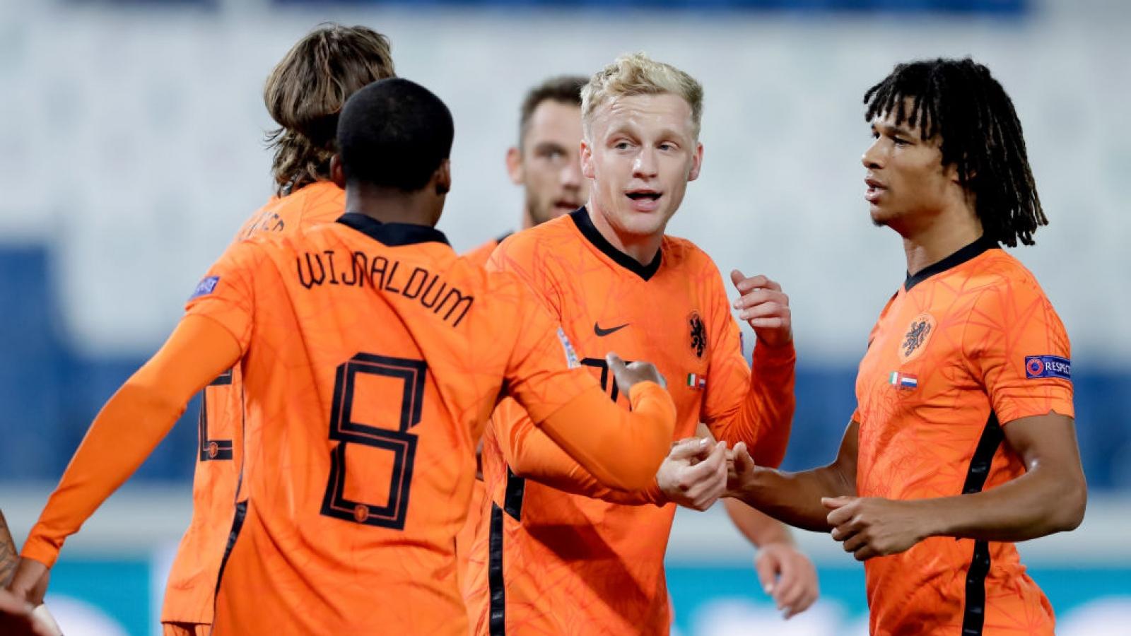 Van De Beek ghi bàn đầu tiên cho ĐTQG, Hà Lan chia điểm với Italia