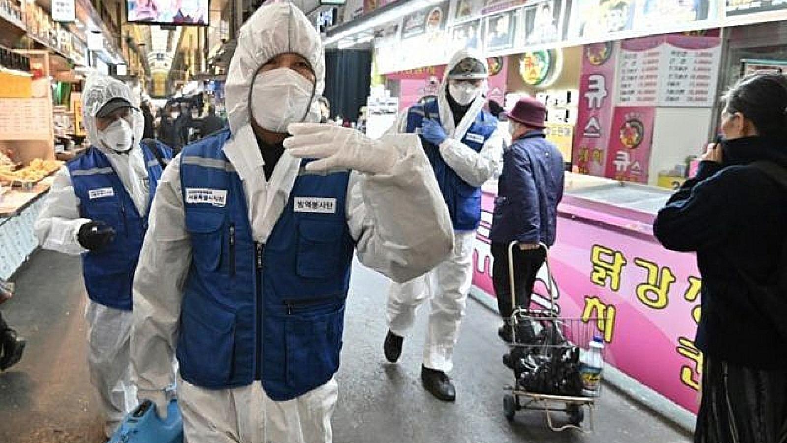 Số người mắc Covid-19 tại Hàn Quốc giảm còn 2 con số
