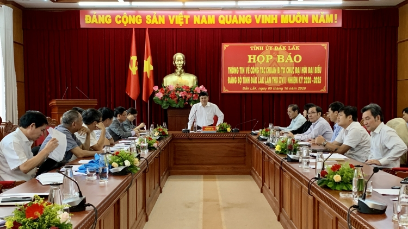 Đại hội đại biểu Đảng bộ tỉnh Đắk Lắk diễn ratừ ngày 13-15/10