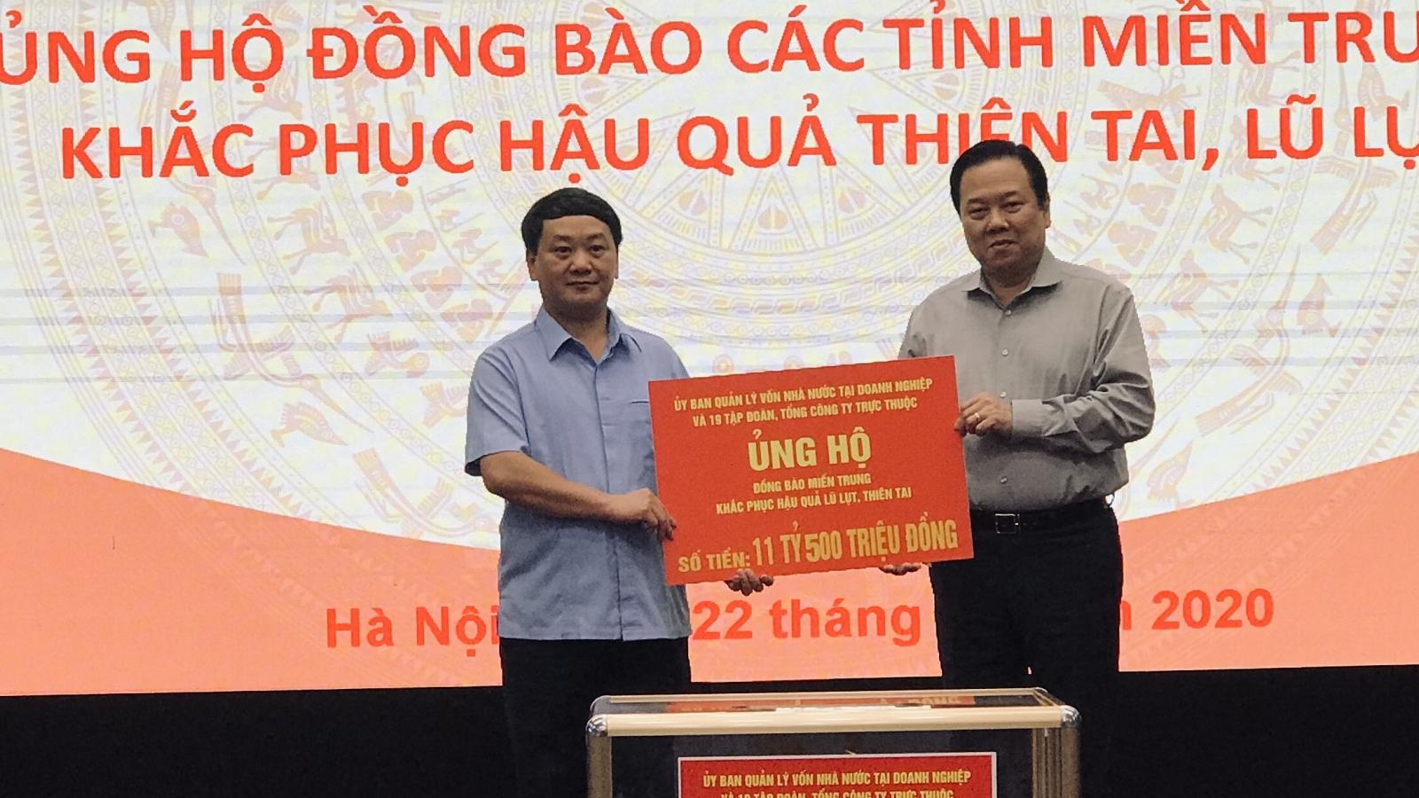 Ủy ban Quản lý vốn Nhà nước và 19 đơn vị thành viên phát động ủng hộ miền Trung