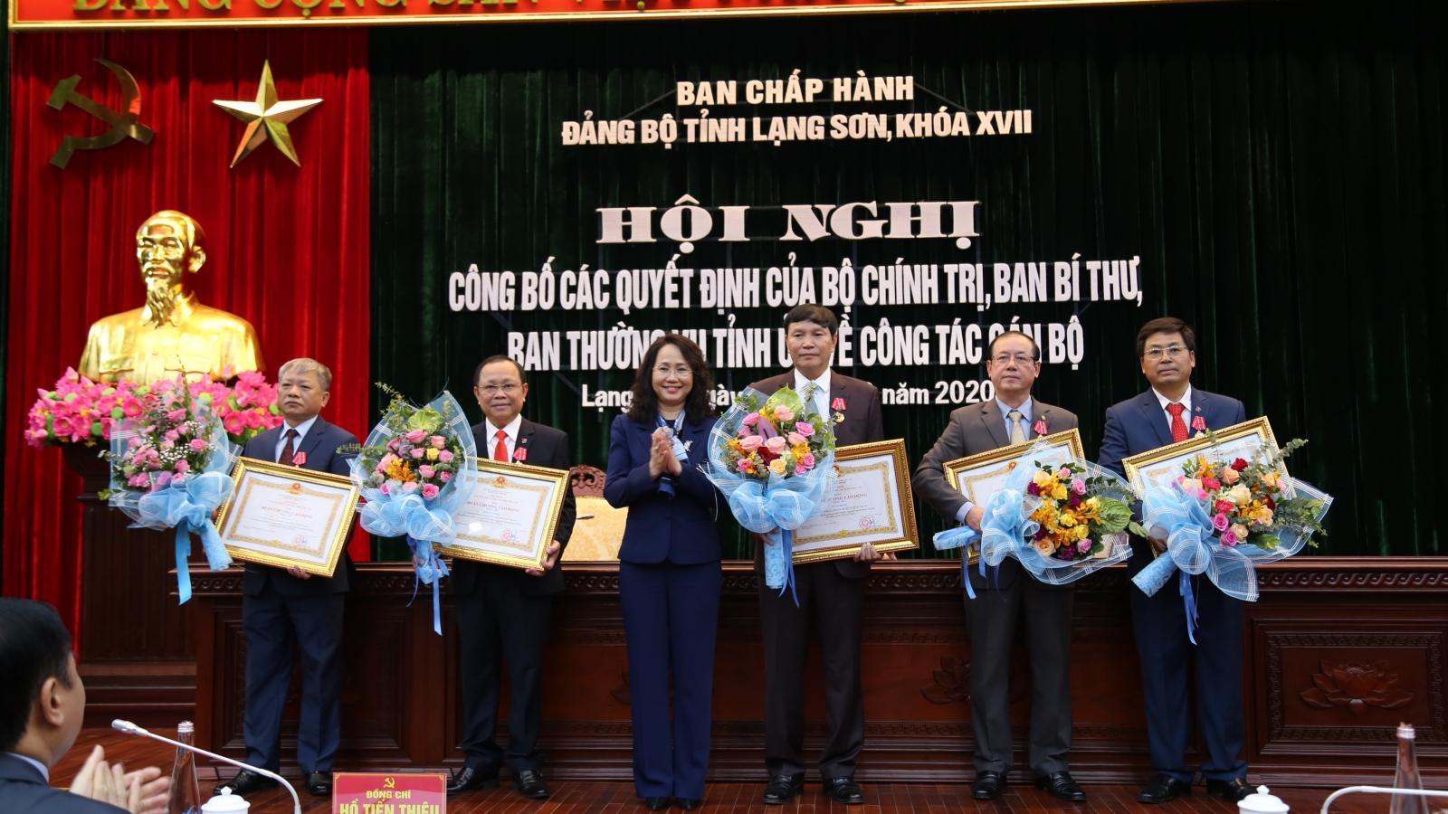 Công bố luân chuyển, bổ nhiệm cán bộ tại tỉnh Lạng Sơn