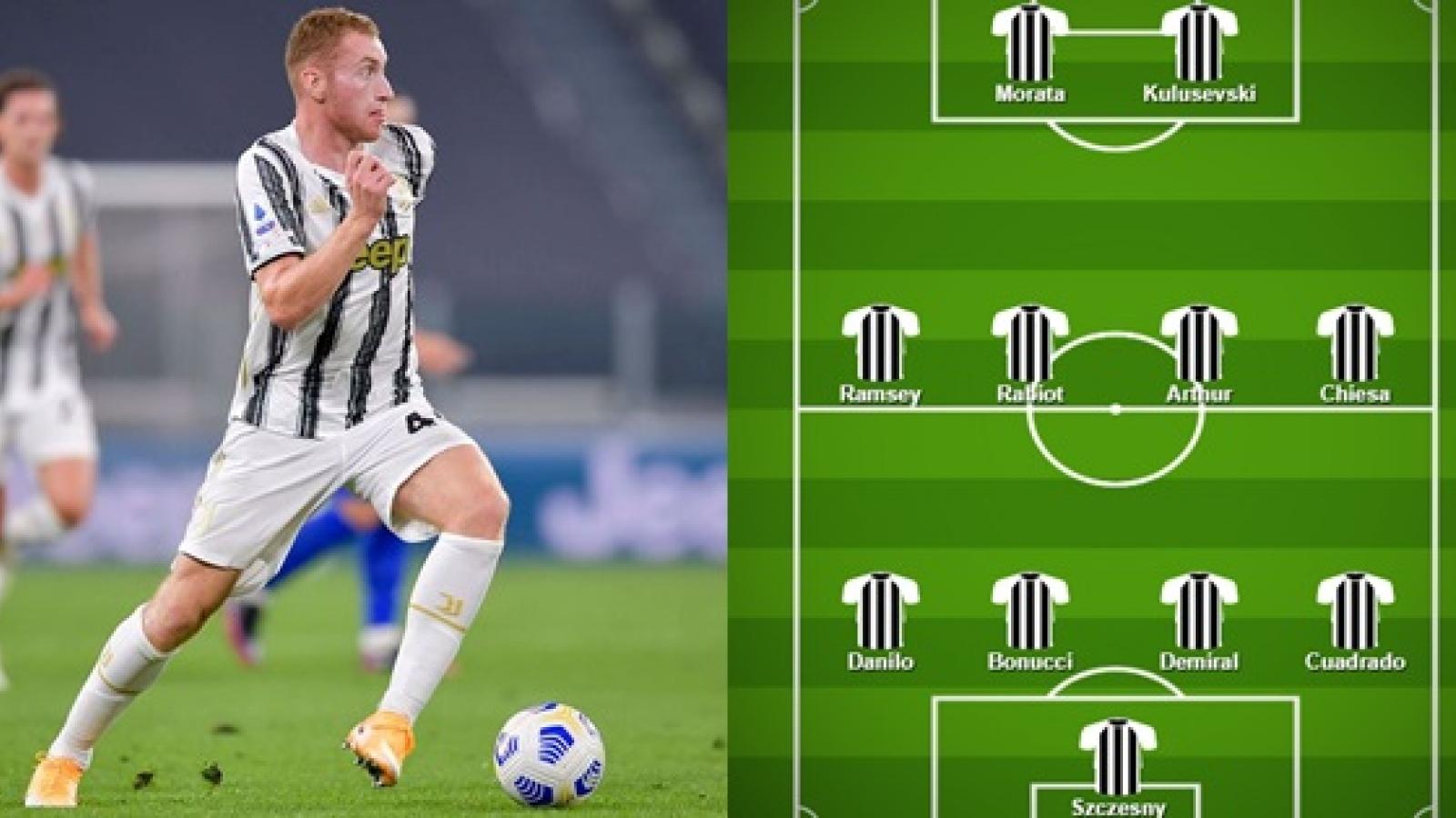 Đội hình dự kiến của Juventus trước Barca: Tiền đạo sinh năm 2000 thế chỗ Ronaldo