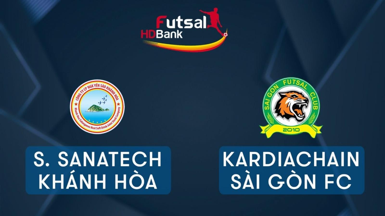 TRỰC TIẾP Savinest Sanatech Khánh Hòa vs Kardiachain Sài Gòn Giải Futsal HDBank 2020