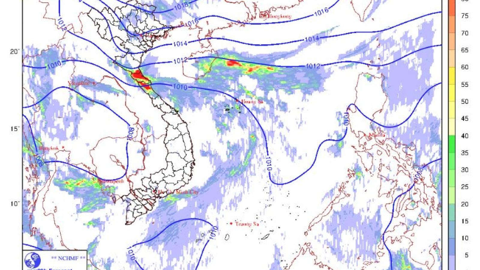 Không khí lạnh tăng cường, sáng mai các tỉnh Bắc Bộ có mưa, mưa rào