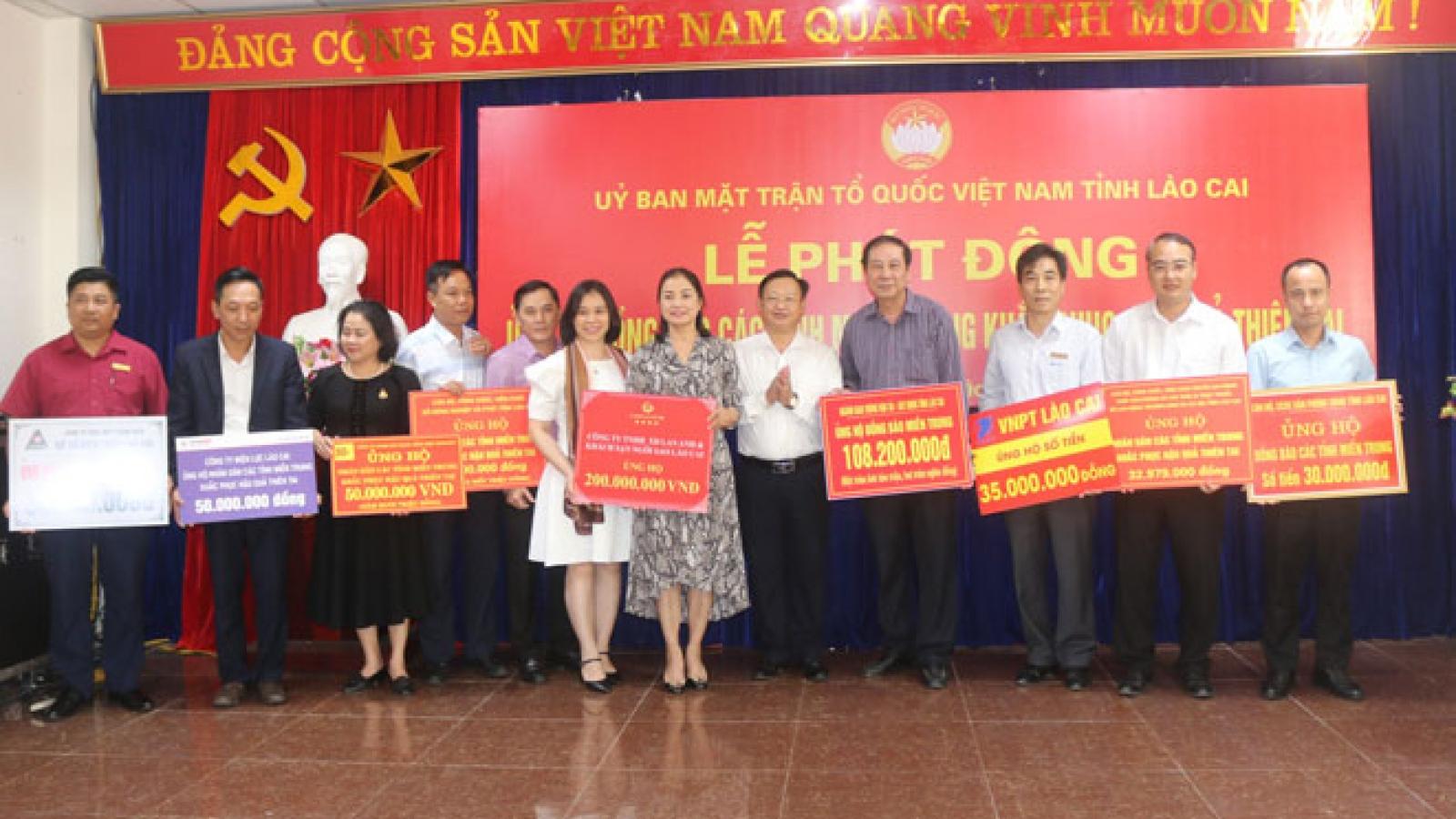 MTTQ Việt Nam tỉnh Lào Cai kêu gọi được gần 3 tỷ đồng ủng hộ miền Trung