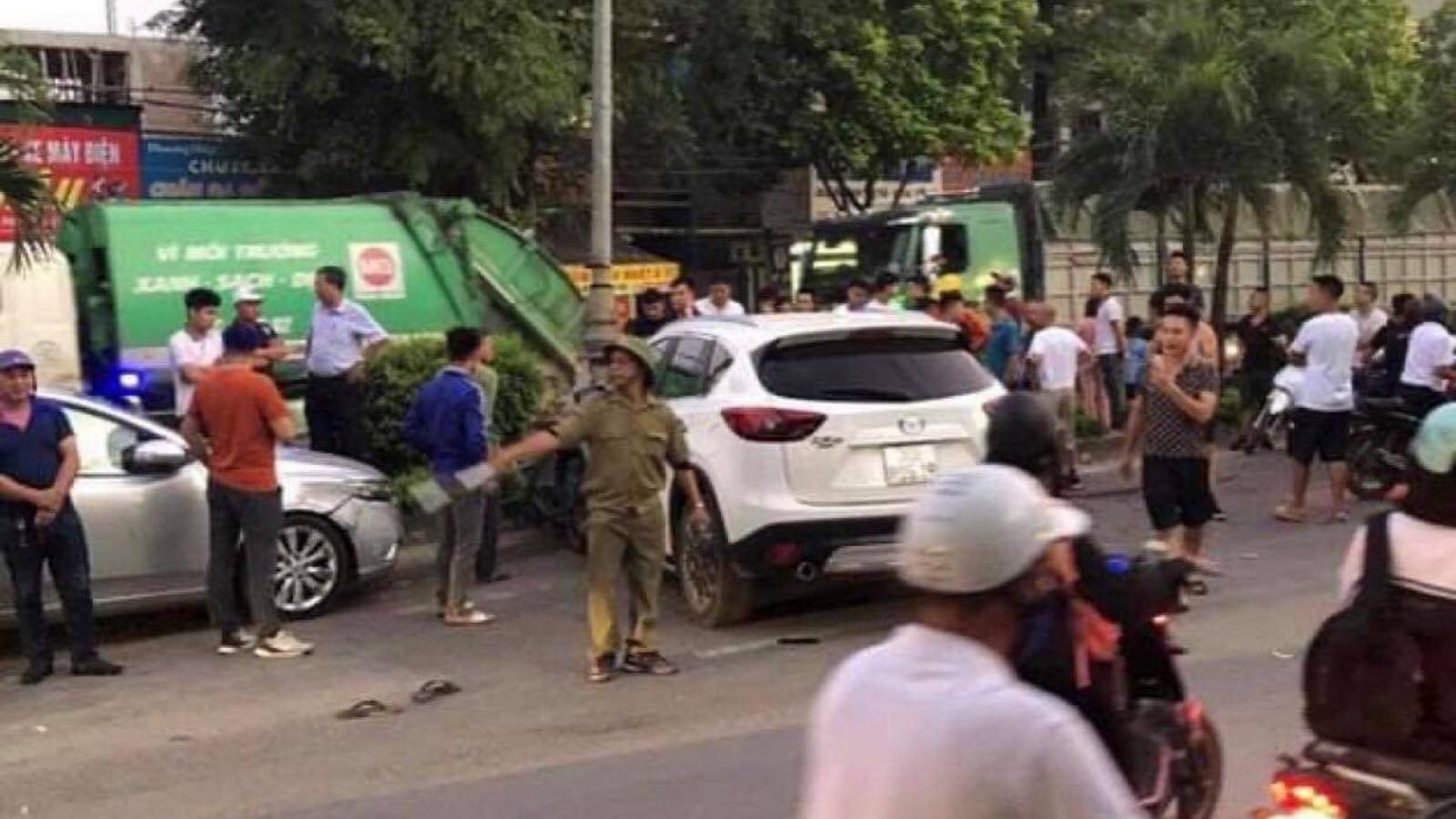 Lái xe CX5 đâm liên hoàn ở thị xã Sơn Tây say rượu, không có bằng lái