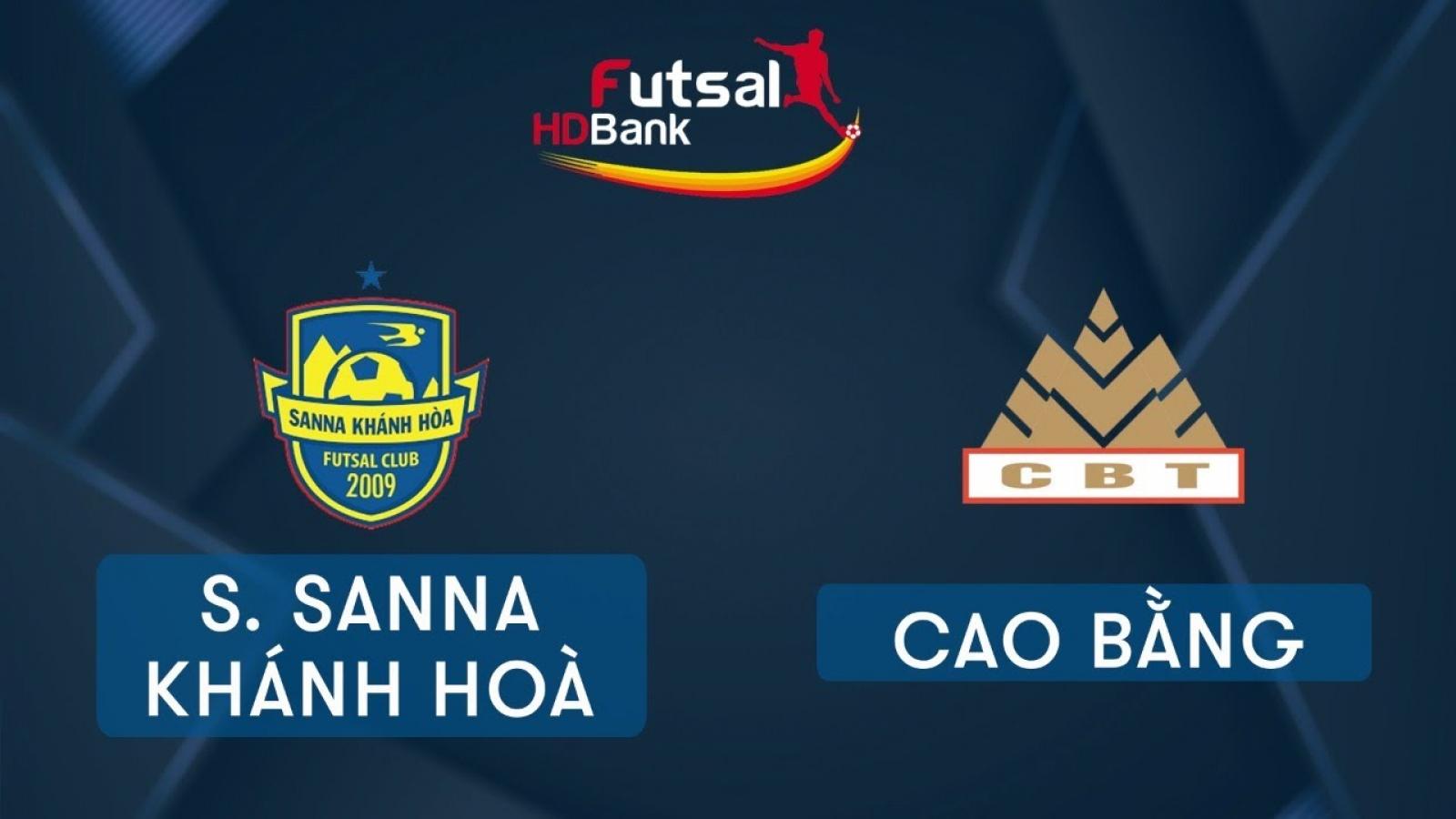 Xem trực tiếp Futsal HDBank VĐQG 2020: Cao Bằng - Sanna Khánh Hòa