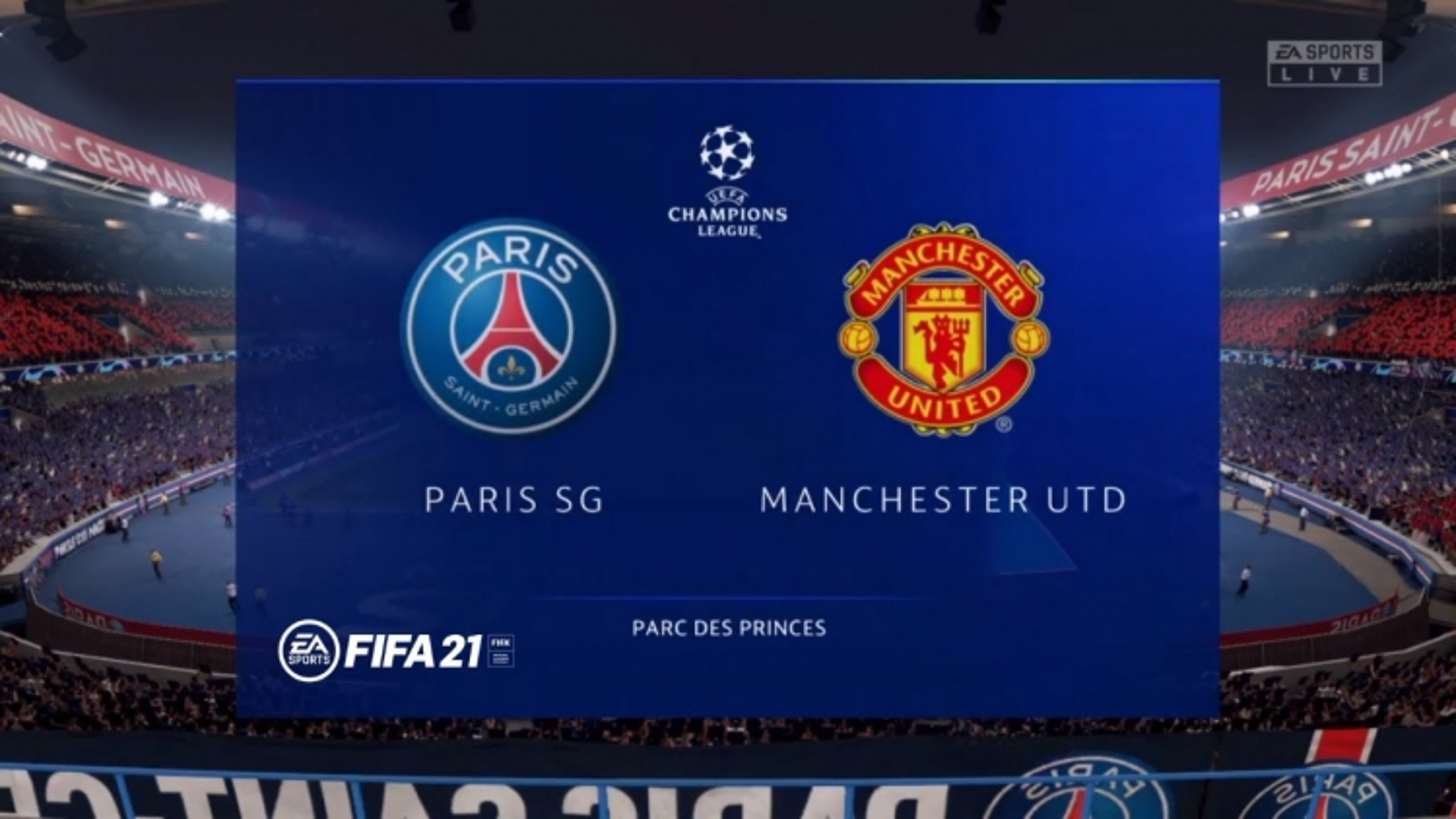 VIDEO:  Dự đoán kết quả PSG - MU bằng game FIFA 21