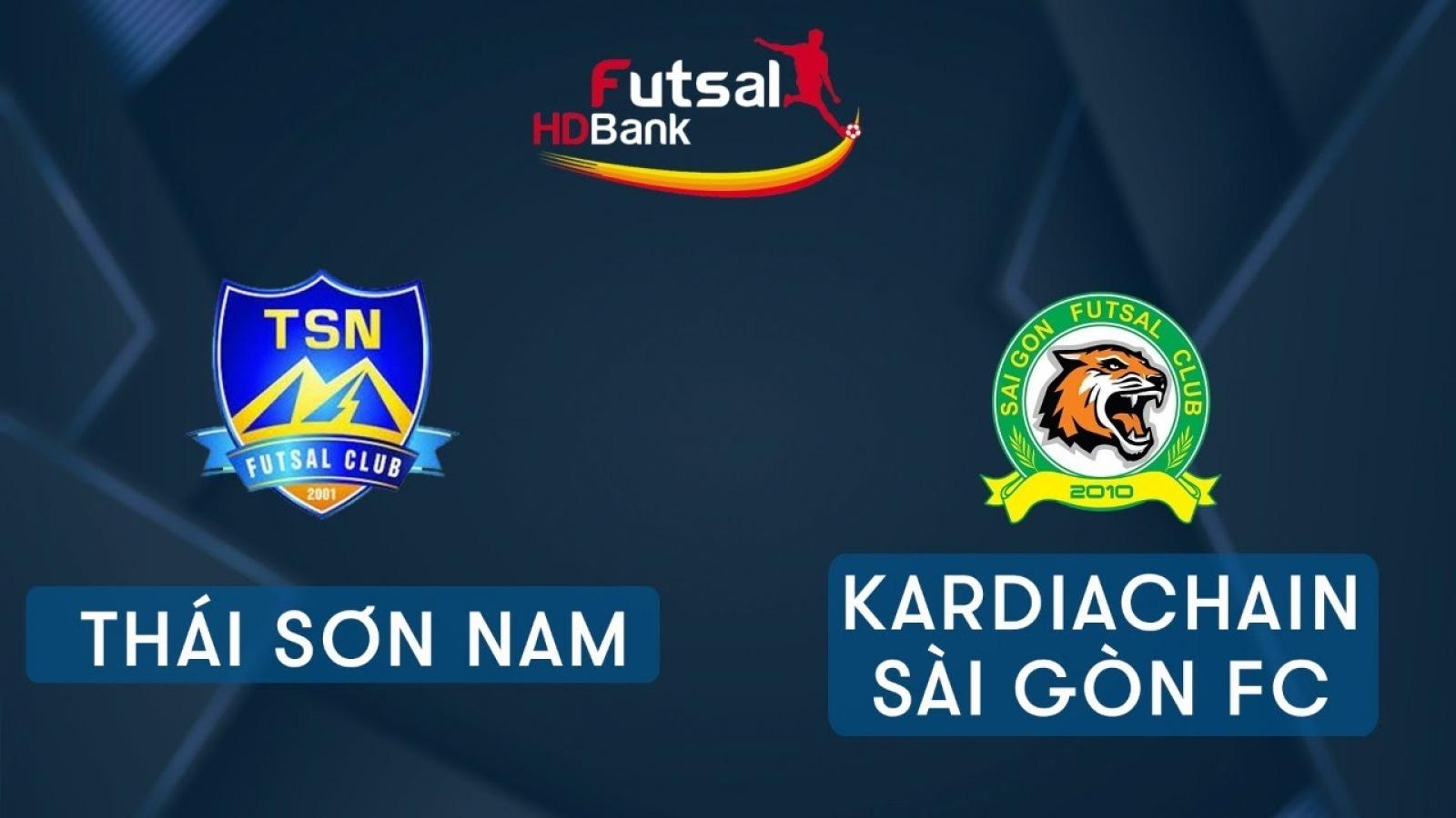 Xem trực tiếp Futsal HDBank VĐQG 2020: Thái Sơn Nam Vs Kardiachain Sài Gòn FC