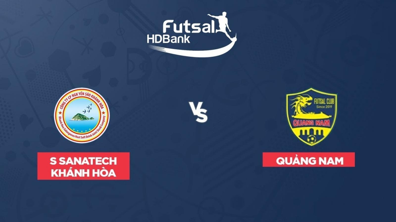 Xem trực tiếp Futsal HDBank VĐQG 2020: Sannatech Khánh Hòa - Quảng Nam