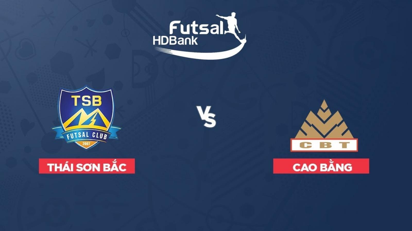 Xem trực tiếp Futsal HDBank VĐQG 2020: Thái Sơn Bắc - Cao Bằng