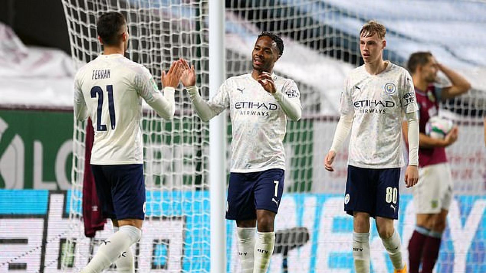 Sterling rực sáng, Man City thẳng tiến tứ kết Cúp Liên Đoàn Anh