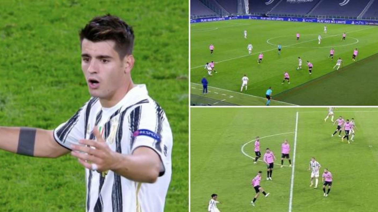 Morata lập hat-trick việt vị, 3 lần bị VAR từ chối bàn thắng trước Barca