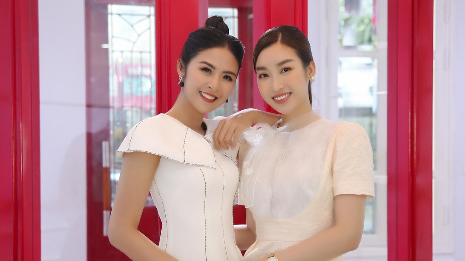 Chuyện showbiz: Hoa hậu Đỗ Mỹ Linh làm phù dâu trong lễ cưới Ngọc Hân
