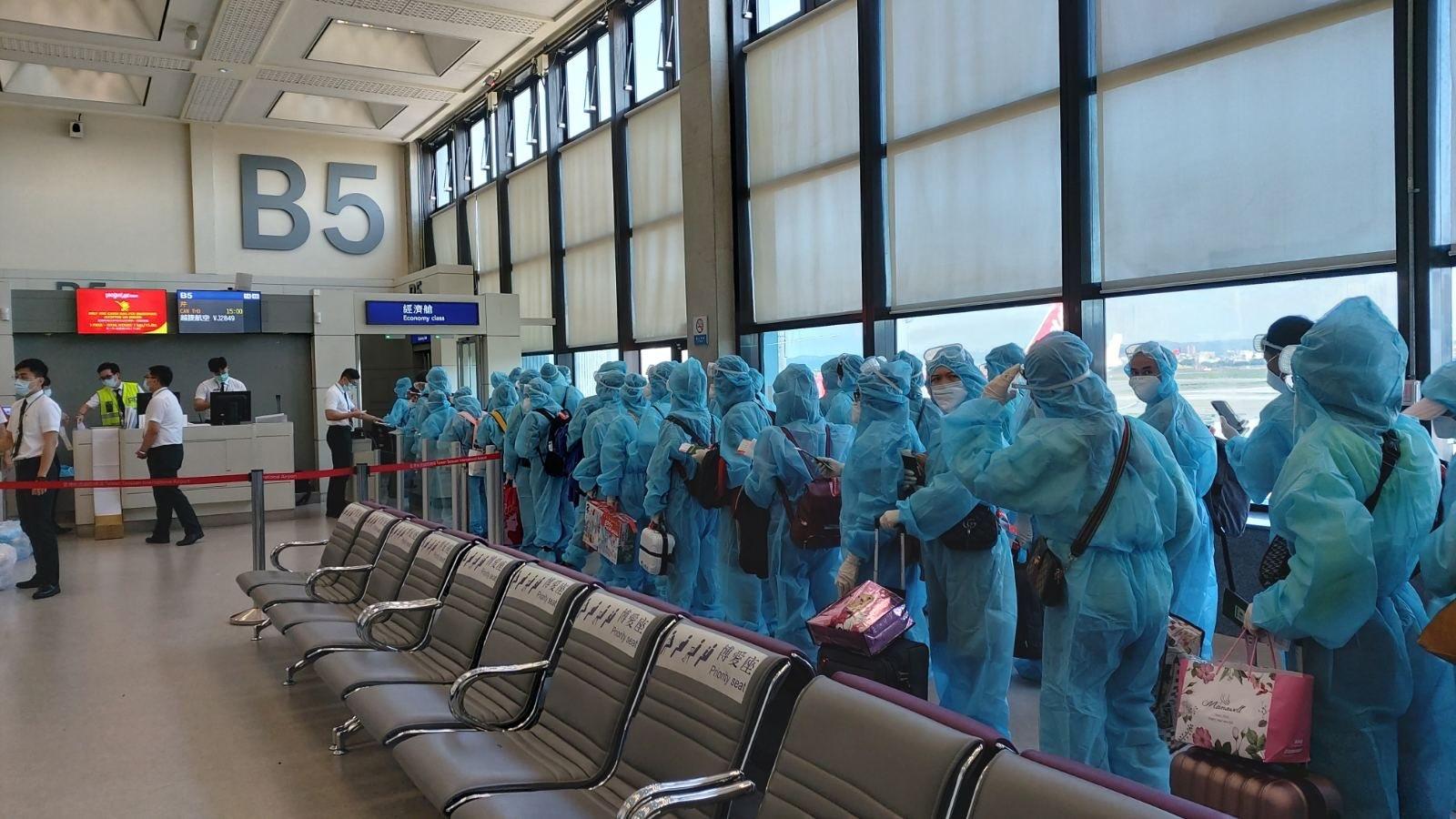 Đưa 230 công dân Việt Nam từ Đài Loan (Trung Quốc) về nước