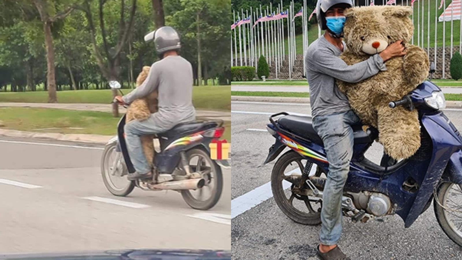 Người đàn ông nhặt chú gấu bông từ bãi rác mang về tặng con gái khiến ai cũng chạnh lòng