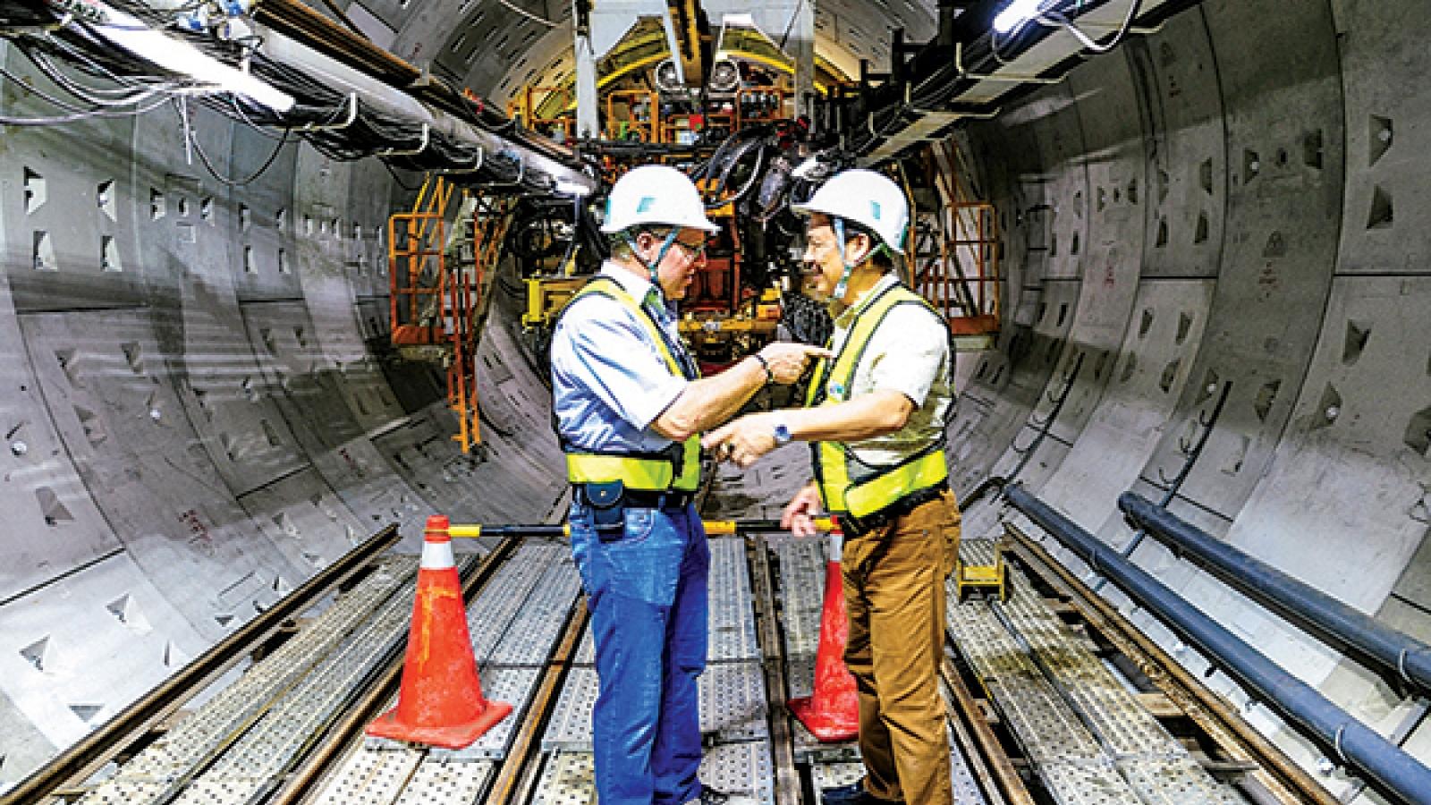 Máy đào hầm TBM của Đức sẽkhoan đường hầm hơn 4,5km tuyến metro Nhổn-ga Hà Nội