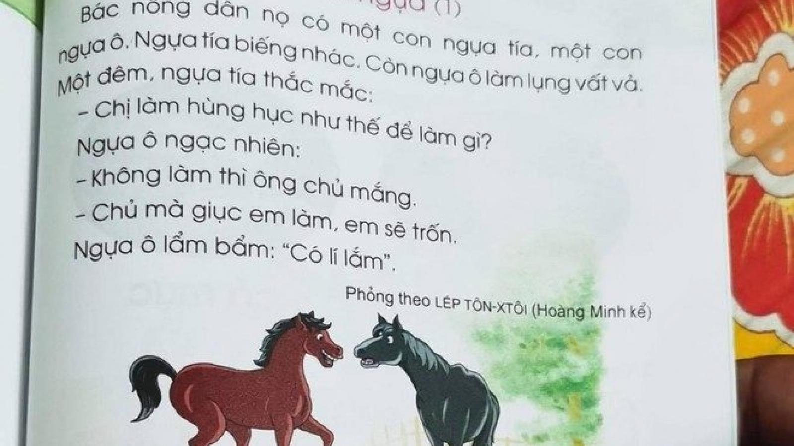 """Bài """"Hai con ngựa"""" trong SGK lớp 1: Trò có tiếp thu được và đúng """"ý nghĩa"""" câu chuyện?"""