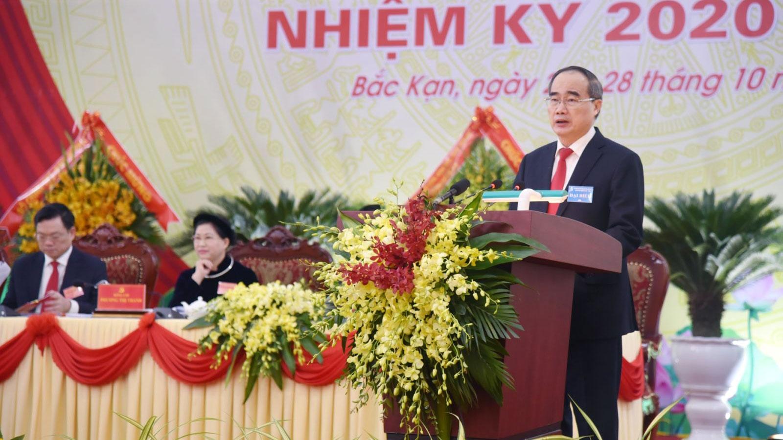 Ông Nguyễn Thiện Nhân dự và chỉ đạo Đại hội đại biểu Đảng bộ tỉnh Bắc Kạn