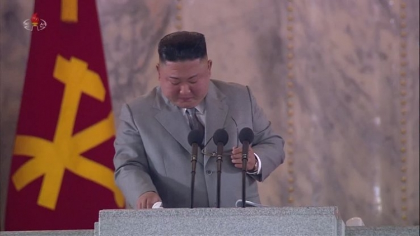 Ông Kim Jong Un bật khóc khi đọc diễn văn kỷ niệm thành lập Đảng Lao động Triều Tiên