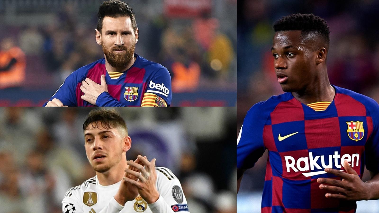 """Đội hình kết hợp Barca - Real Madrid: """"Thần đồng"""" Fati góp mặt"""
