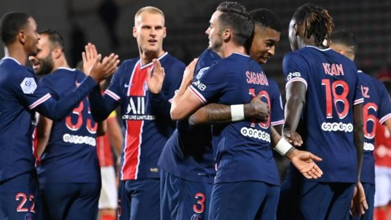 """Thắng đậm Nimes ở Ligue 1, PSG chạy đà hoàn hảo trước """"đại chiến"""" với MU"""