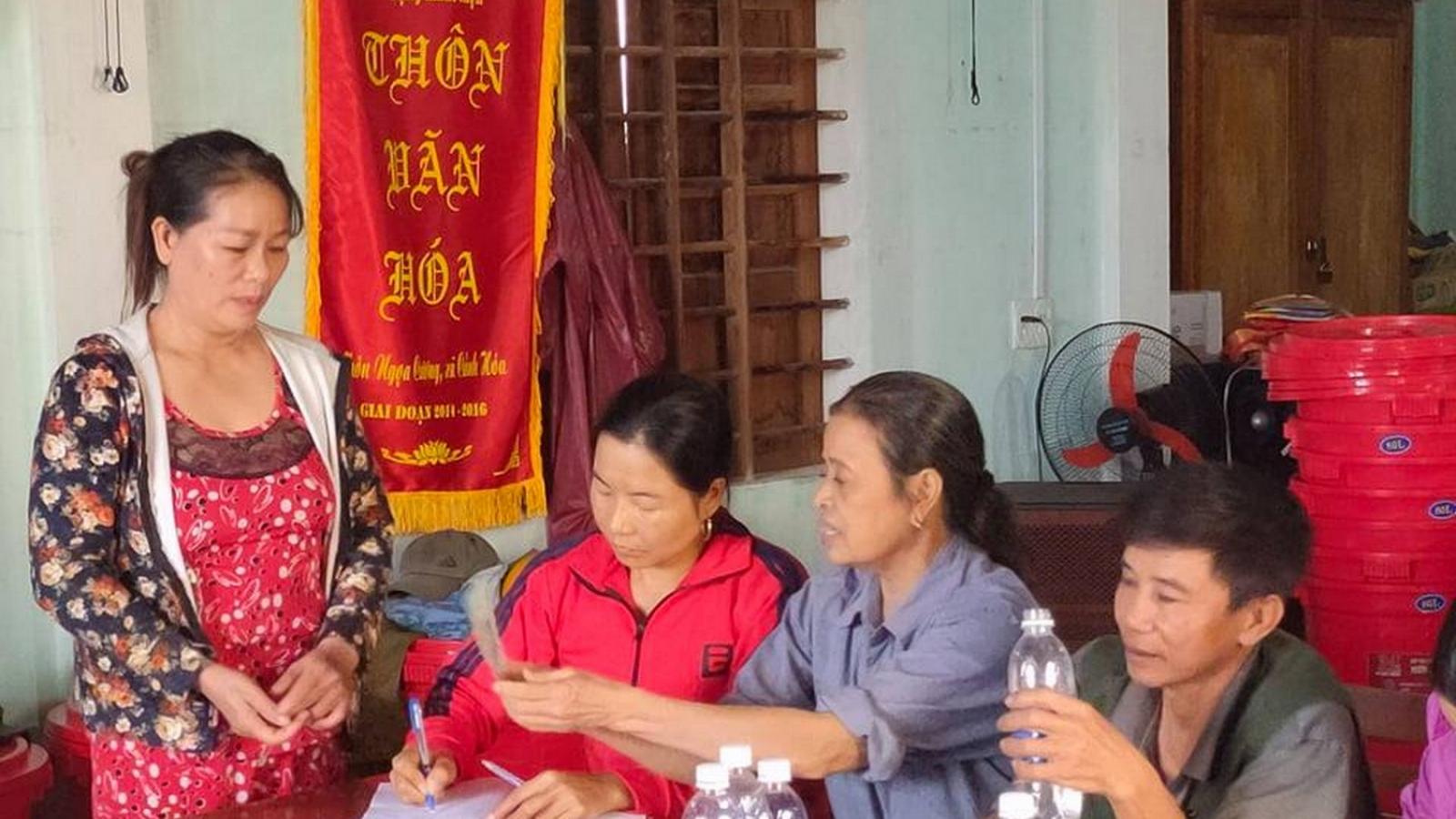 Lãnh đạo thôn Ngọa Cương đã trả lại 69 hộ dân hơn 400 triệu mà Thủy Tiên trao