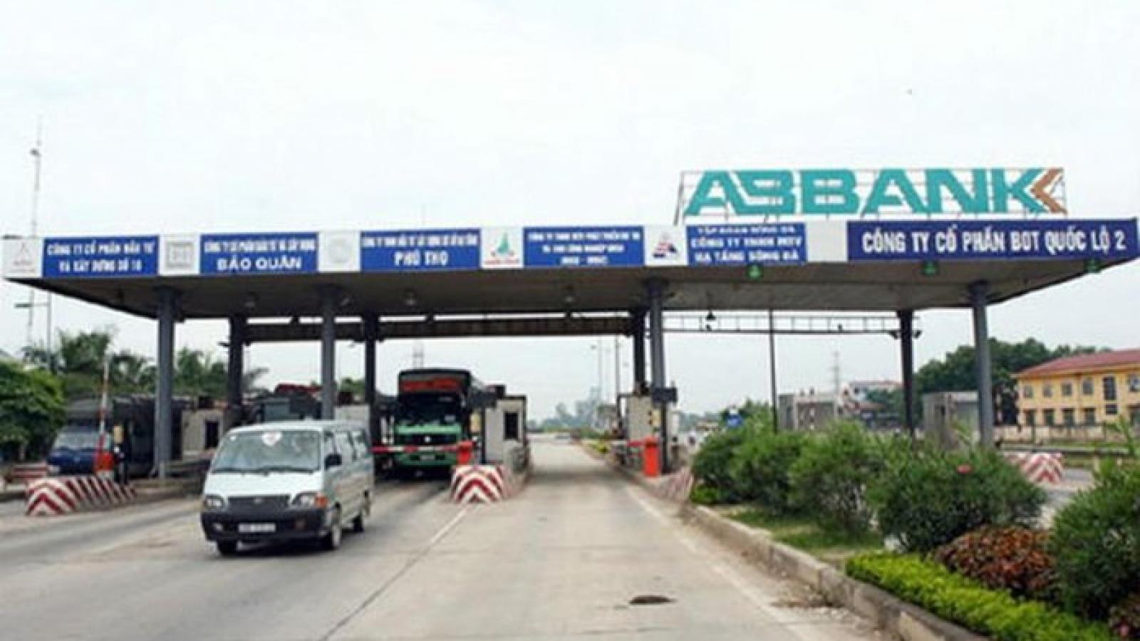 Ngày 13/10 sẽ dừng thu phí dự án BOT Quốc lộ 2 đoạn Nội Bài-Vĩnh Yên