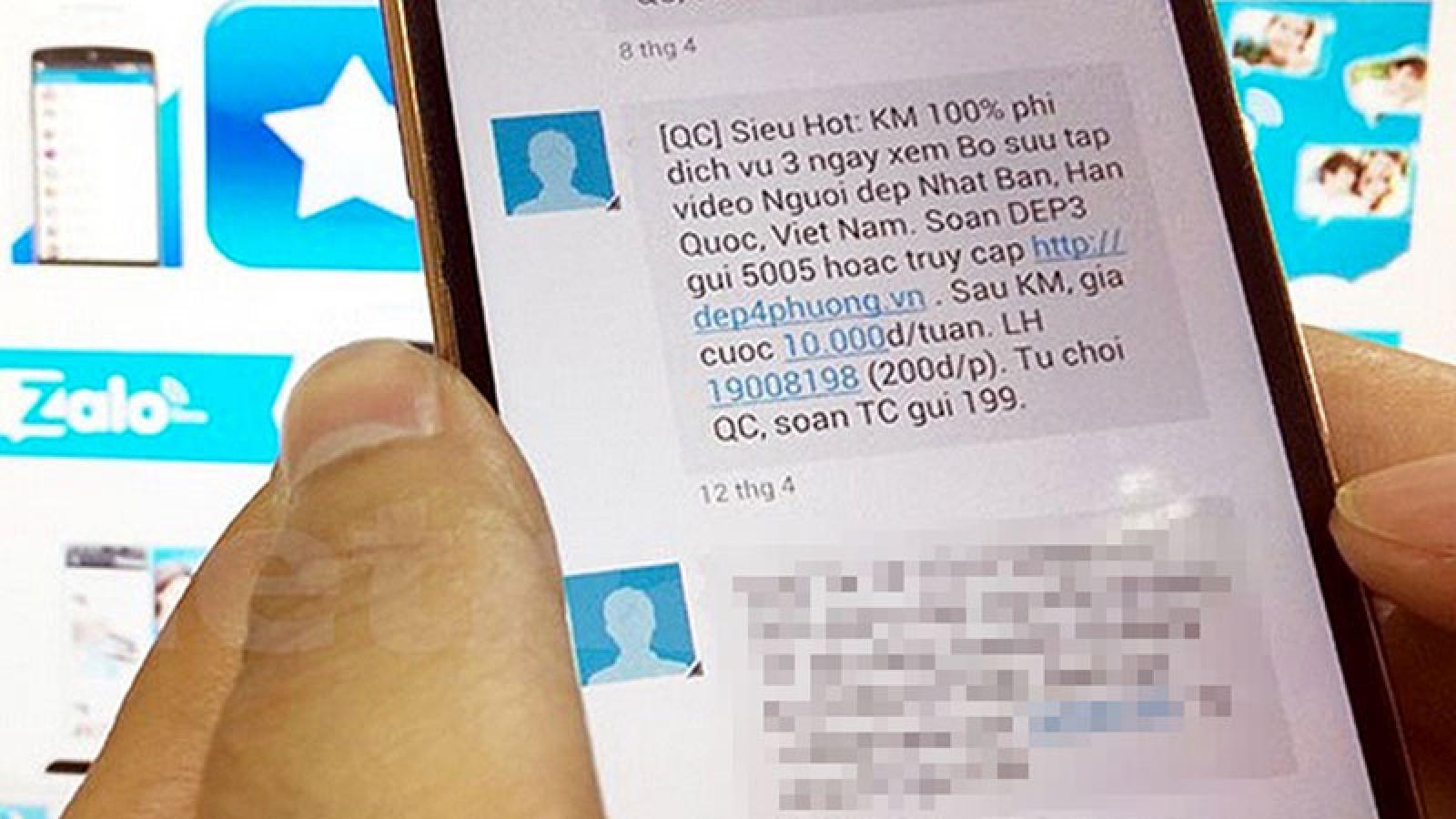 """Tin nhắn, cuộc gọi """"rác"""" giảm hẳn sau khi áp dụng Nghị định 91"""
