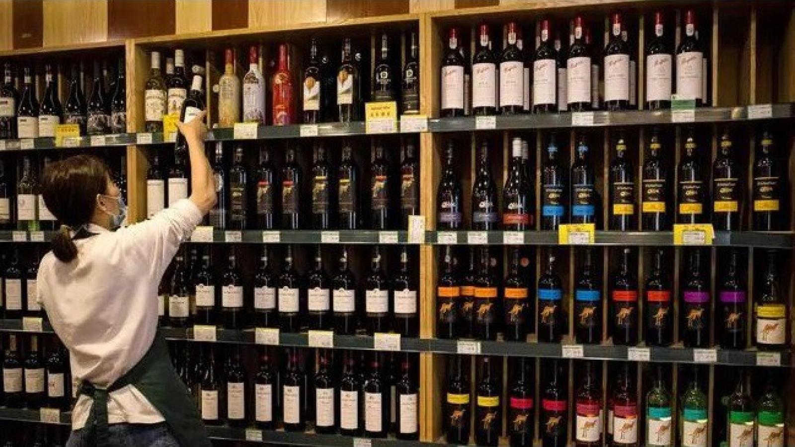 Xuất khẩu rượu vang của Australia đạt 3 tỷ AUD